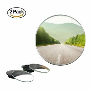 "2 Pcs Universal 2"" Wide Angle Convex Rear Side View Blind Spot Mirror for Car"