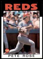 1986 Topps Baseball Pete Rose Cincinnati Reds #1