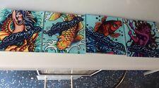Ed Hardy Coasters Set Of 4 glass coasters