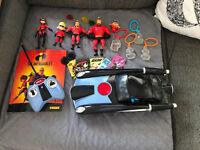 Disney Incredibles RC Car And Figure Bundle Rare Pixar