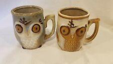 (2) Gibson Home Owl Stoneware Coffee Mug Cup 12 oz