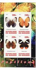 Burundi - Butterflies - 4 Stamp Sheet - 2J-082