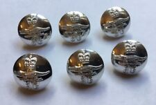 JAMAICA CUSTOMS & EXCISE 22mm SILVER CHROME BUTTONS ERII CROWN AND CROCODILE