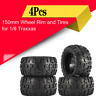 4Pcs 150mm Wheel Rim and Tires for 1/8 Monster Truck Racing RC Car Accessories `