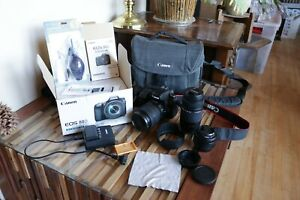 Canon EOS 80D with Canon EFS 18-135mm NANO USM Lens +Extra Lenses and Acessories