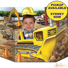 CONSTRUCTION PARTY SUPPLIES PHOTO PROP STAND TRUCKS DIGGER BIRTHDAY DECORATIONS
