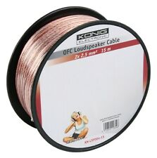 KÖNIG 15m Reel of Twin 2.5mm² OFC Speaker Cable (Oxygen Free Copper) Audio KONIG