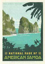 America Samoa National Park Poster Art Postcard America Samoa Postcard