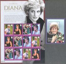 Princess Diana 2 sheets mnh 2017(Isle of man + Guernsey) mnh - Royalty-