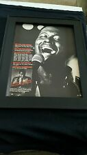 Luther Vandross Never Too Much Rare Original Promo Poster Ad Framed!