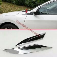 Chrome Air Flow Vent Fender Trim Badge Sticker For Honda Civic 10th 2016 2017