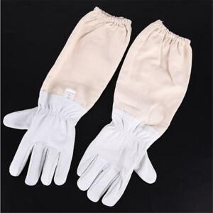 Beekeepers Bee Gloves Quality Soft White Goat Leather New Beekeeper Gauntlets UK