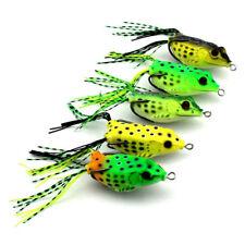 BULK 5x Frog Bait Fishing Lures Soft Plastic With Hooks Bream Snapper Barra 6cm