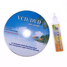 New DVD VCD CD CD-Rom Lens Cleaner Rom Player Cleaning TV Game Wet & Dry +Music