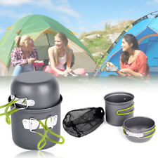 Portable Outdoor Cooking Set Aluminum Pot Bowl Cookware Camping Picnic Hiking FT