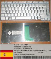 CLAVIER QWERTY ESPAGNOL TOSHIBA Satellite A200 NSK-TAD0S 9J.N9082.D0S Gris