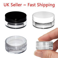 5ml 5g Round Plastic Storage Pot Jar Container Sample Cosmetic Make-up Travel JD
