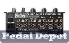 Behringer VMX300USB Pro 3-Channel Dj Mixer w/USB/Audio Interface - Brand New!