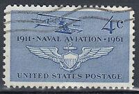 USA Briefmarke gestempelt 4c Naval Aviation 1911 - 1961 Flugzeug / 939