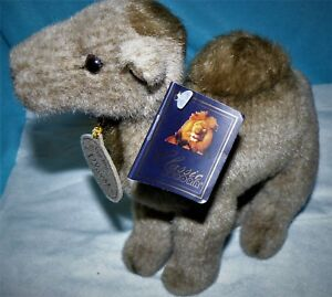 """Aurora Classic Plush Camel 10"""" long 7.5"""" Tall NWT Handcrafted in Indonesia"""