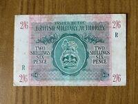 Banconota BRITISH MILITARY AUTHORITY 2,6 SHILLINGS  NUMISMATICA SUBALPINA