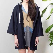 BNWT Aussie ZOOLOGIE Wool Blend Navy blue Cape Coat Jacket kimono sleeves long