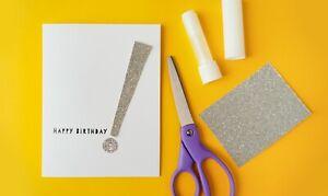 Simple handmade paper happy birthfay card (used)