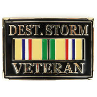 Desert Storm Veteran Military Ribbon Metal Belt Buckle - FREE SHIPPING