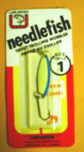 **Vintage**  Luhr Jensen Needlefish 1051-001-181 Sz 1 Glo/Blue Stripe