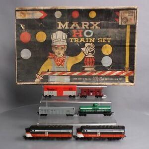 Marx 74652 HO Postwar Diesel Freight Set/Box