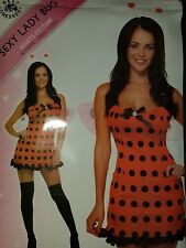 Ladies Darling Lady Bird Costume Adults Bug Fancy Dress Outfit Insect One Size.