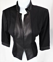 PS Kate Rosy Black Stretch Blazer Jacket Lined 3/4 Sleeves NWT Career Casual