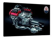 Maserati V8 Engine 30x20 Inch Canvas - Framed Picture Print