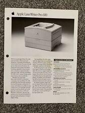 Apple LaserWriter Pro 600 Sales Flyer