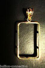 ~NEW BEZEL&BALE FOR 1 OZ.PAMP SUISSE  BARS 14 KT.SOLID GOLD HIGH POLISH  LG BALE