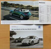 1985) VW Beetle / Cabriolet Prospekt 2016 + Preisliste 2017 TDI  TSI bis 220 PS
