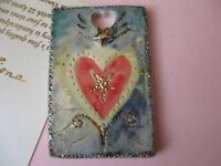 Fiona Studio Porcelain Wall art Gold luster Heart with stars beautiful