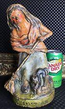 Rare c1895 Symonds Antique Salem 1692 Witch Blk Cat Cast Iron Metal Art Doorstop