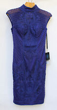 **NEW Sue Wong Sapphire Lace Dress-Style N5369- Sz 2