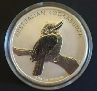 2010 $1 AUSTRALIAN KOOKABURRA PERTH MINT 1oz SILVER BULLION COIN IN CAPSULE