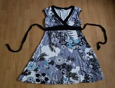 beauitiful black grey floral NEW LOOK party evening casual dress size 14