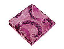 Lord R Colton Masterworks Pocket Square - Villarrica Pink Pearl Silk New