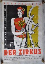 Fernand Léger / 1959 / affiche de Cirque /Der Zirkus  / Ausstellung / très rare