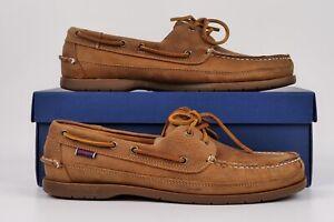 Sebago Docksides Schooner Boat Shoes Brown Tan BNIB UK11R RRP £135 7002JQ0