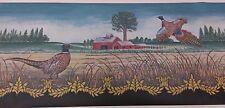 Pheasants on a Farm (Black)- Wallpaper Border, 5 yd pkg,  WPN1023 (R-1)