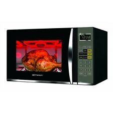 Emerson Black Microwave w/ Grill Grilling Oven Led Digital Kitchen Holiday 1100W