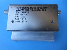 Peripheral Mode Isolator Pmi-9026 Wmi 16453 Microwave 1.8 - 4.5 Ghz