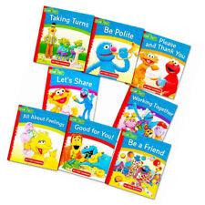 Sesame Street - Set Of 8 Manners Story Books For Kids- Boys & Girls -Great Gift