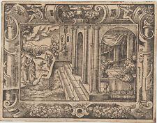 Architektur Orig Virgil SOLIS Ornament Holzschnitt um 1560 Rollwerk Beschlagwerk
