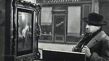 1955 Vintage Print HUMOR Man NUDE PAINTING Paris Photo Art 8x10 ROBERT DOISNEAU